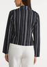 Navy Stripe Linen Jacket alternate view