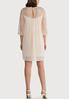 Plus Size Pleated Lace Sleeve Dress alternate view