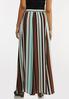 Plus Size Stripe Crepe Maxi Skirt alternate view