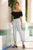 Plus Size Olive Stripe Linen Pants alt view