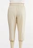 Plus Size Linen Paperbag Waist Pants alternate view