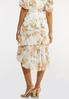 Plus Size Dreamy Floral Tiered Midi Skirt alternate view