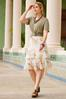 Plus Size Dreamy Floral Tiered Midi Skirt alt view