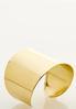 Gold Metal Statement Cuff Bracelet alternate view