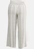 Plus Size Stripe Linen Palazzo Pants alternate view