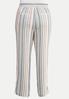 Plus Size Striped Beach Linen Pants alternate view