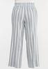 Plus Size Belted Stripe Linen Pants alternate view