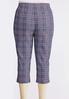 Plus Size Blue Plaid Bengaline Pants alternate view
