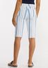Blue Stripe Shorts alternate view