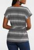 Plus Size Chevron Belted Top alternate view