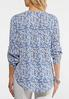Ditsy Blue Floral Top alternate view