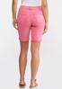 Pink Denim Bermuda Shorts alternate view