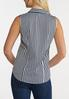 Striped Collared Sleeveless Top alternate view