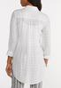 Plus Size Button Down Grid Tunic Top alternate view