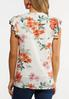 Plus Size Orange Floral Top alternate view
