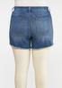 Plus Size Frayed Denim Shorts alternate view