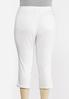 Plus Size Distressed White Cropped Jeans alternate view