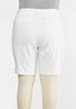 Plus Size White Bermuda Shorts alternate view