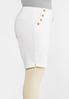 Plus Size White Bermuda Shorts alt view
