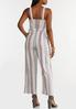 Plus Size Striped Linen Jumpsuit alternate view