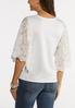 Plus Size Lace Wing Sleeve Top alternate view