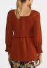 Plus Size Solid Smocked Poet Top alternate view