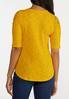 Plus Size Gold Lace Shoulder Top alternate view