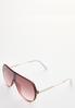 Lucite Shield Sunglasses alt view