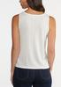 Plus Size Button Front Ribbed Tank alternate view