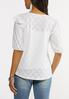 Plus Size Eyelet Balloon Sleeve Top alternate view