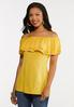 Plus Size Convertible Ruffled Top alt view