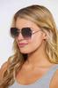 Chain Detail Rimless Sunglasses alternate view