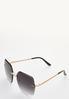 Chain Detail Rimless Sunglasses alt view