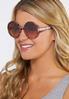 Tortoise Oversized Round Sunglasses alternate view