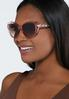 Pink Lucite Oval Sunglasses alternate view