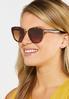 Metal Trim Tort Cateye Sunglasses alt view