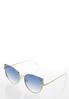 Metal Rim Cateye Sunglasses alternate view