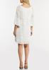 White Peasant Burnout Dress alternate view