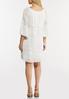 Plus Size White Peasant Burnout Dress alternate view