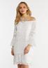 Plus Size White Peasant Burnout Dress alt view
