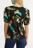 Plus Size Tropical Puff Sleeve Top alternate view