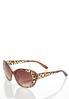 Leopard Trim Cateye Sunglasses alternate view