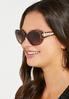Leopard Trim Cateye Sunglasses alt view