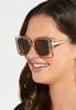 Lucite Geo Square Sunglasses alt view