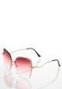 Beveled Rose Colored Sunglasses alternate view