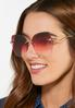 Beveled Rose Colored Sunglasses alt view