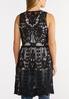 Plus Size Black Crochet Mesh Vest alternate view