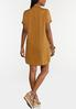 Plus Size Copper Shirt Dress alternate view