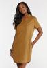 Plus Size Copper Shirt Dress alt view