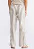 Striped Linen Drawstring Pants alternate view